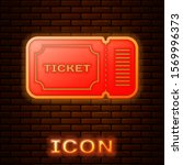 glowing neon ticket icon... | Shutterstock .eps vector #1569996373