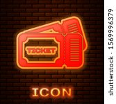 glowing neon ticket icon... | Shutterstock .eps vector #1569996379