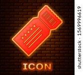 glowing neon ticket icon... | Shutterstock .eps vector #1569996619