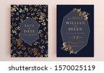 beautiful set of wedding card...   Shutterstock .eps vector #1570025119