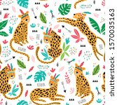 vector childish pattern with... | Shutterstock .eps vector #1570035163