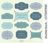 vintage frame set. calligraphic ... | Shutterstock .eps vector #157005980