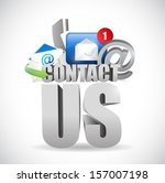 contact us 3d text concept... | Shutterstock . vector #157007198