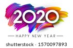 happy new year 2020 card with... | Shutterstock .eps vector #1570097893