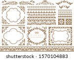 vintage ornament set.... | Shutterstock .eps vector #1570104883