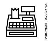 cash register vector  black...   Shutterstock .eps vector #1570125766