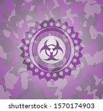 biohazard icon on pink...   Shutterstock .eps vector #1570174903