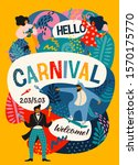 hello carnival. vector poster... | Shutterstock .eps vector #1570175770