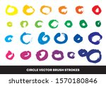 color rainbow brush circle... | Shutterstock .eps vector #1570180846