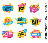 cashback labels. cash back...   Shutterstock .eps vector #1570181950