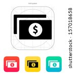 dollar banknotes icon. vector...