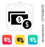 dollar banknote and coin icon....