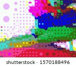 digital effects. vibrant... | Shutterstock . vector #1570188496