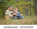family of four picking...   Shutterstock . vector #157019234