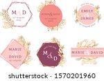 colorful floral wedding... | Shutterstock .eps vector #1570201960