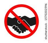 handshake forbidden vector sign....   Shutterstock .eps vector #1570202596