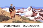 mountain rest flat vector... | Shutterstock .eps vector #1570209046