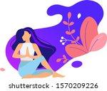 woman activities. set of women... | Shutterstock .eps vector #1570209226