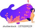 woman activities. set of women... | Shutterstock .eps vector #1570209229