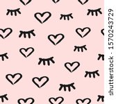 seamless pattern with hearts... | Shutterstock .eps vector #1570243729