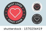 most loved stamp vector... | Shutterstock .eps vector #1570256419