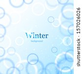 abstract light winter background | Shutterstock .eps vector #157026026