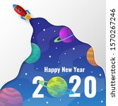 new year 2020 greeting with... | Shutterstock .eps vector #1570267246