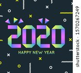 new year 2020 greeting... | Shutterstock .eps vector #1570267249