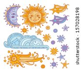 vector illustration set of... | Shutterstock .eps vector #157028198