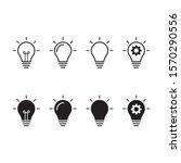 set bulbs symbol. vector icon... | Shutterstock .eps vector #1570290556