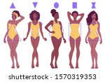 female body shape types   pear  ... | Shutterstock .eps vector #1570319353