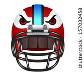 football helmet with eyes