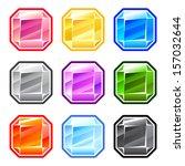 colorful square diamonds  | Shutterstock .eps vector #157032644