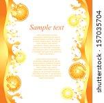 juicy citrus splashes frame... | Shutterstock .eps vector #157035704