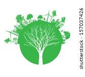 vector ecology concept   | Shutterstock .eps vector #157037426