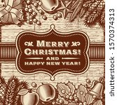 vintage merry christmas card... | Shutterstock .eps vector #1570374313