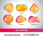 vector abstract design shapes.... | Shutterstock .eps vector #157038914
