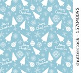 seamless pattern of christmas... | Shutterstock .eps vector #157040093
