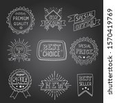 hand drawn style badges and... | Shutterstock . vector #1570419769