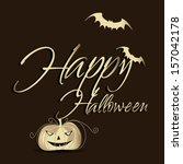 happy halloween design...   Shutterstock .eps vector #157042178