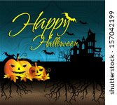 happy halloween design... | Shutterstock .eps vector #157042199