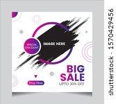 creative big sale offer... | Shutterstock . vector #1570429456