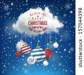 the magic christmas cloud.... | Shutterstock .eps vector #157044398