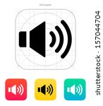 speaker icon. volume max.... | Shutterstock .eps vector #157044704