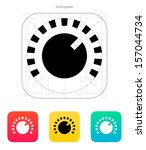 music knob icon. vector...