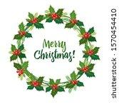 vector illustration christmas... | Shutterstock .eps vector #1570454410