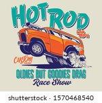 vector comic sketch burnout... | Shutterstock .eps vector #1570468540