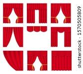 theater curtain on white... | Shutterstock .eps vector #1570505809