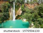 beautiful waterfalls. provence  ... | Shutterstock . vector #1570506133