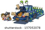 a vector clip art cartoon of... | Shutterstock .eps vector #157052078